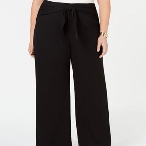 Alfani Pants - Alfani Plus Size Tied High-Waist Wide-Leg Pant